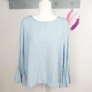 XL | 14th & Union Bell Sleeve Chambray Shirt